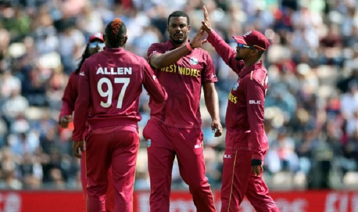 West Indies bowl against New Zealand in World Cup