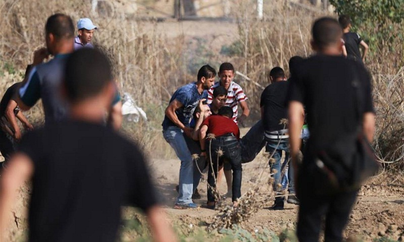 81 Palestinians injured in clashes with Israeli soldiers in eastern Gaza Strip: medics