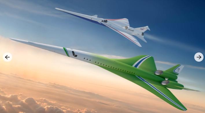 Martin unveils supersonic passenger airplane