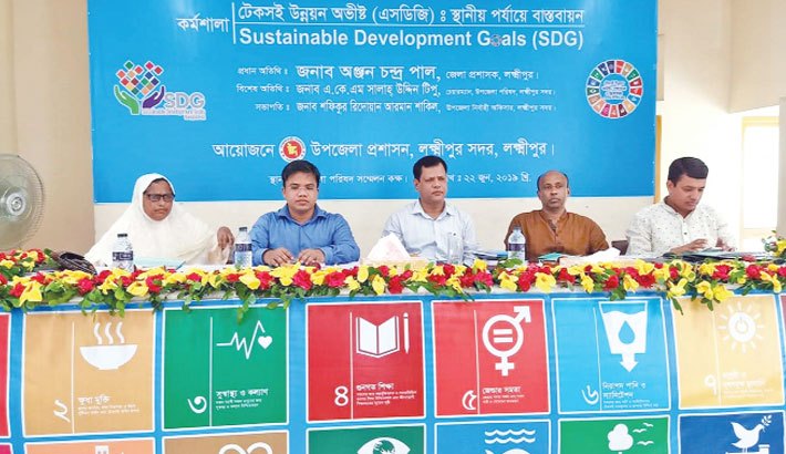 Guests attend a workshop titled 'Sustainable Development Goal: Implementation at Local Level'
