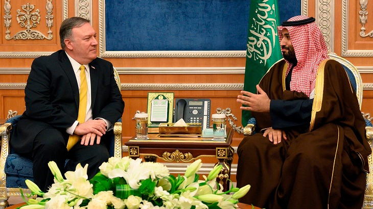 Pompeo meets Saudi rulers on Iran crisis