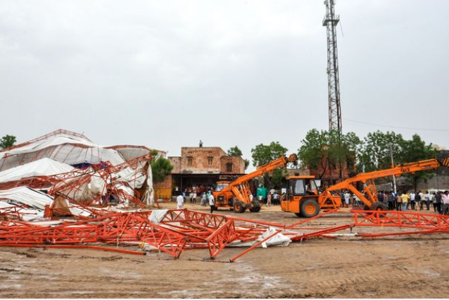 Rajasthan tent collapse kills 14 at religious event