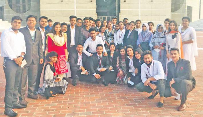 Students of American International University Bangladesh