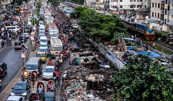 Flammable plastic grain shops mushroom in Old Dhaka