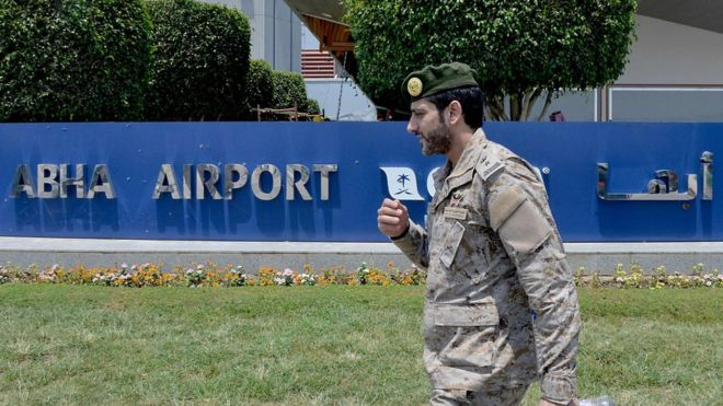 Civilian killed in Houthi attack on Saudi airport