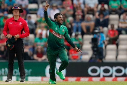 Shakib the second cricketer with five for and fifty in WC