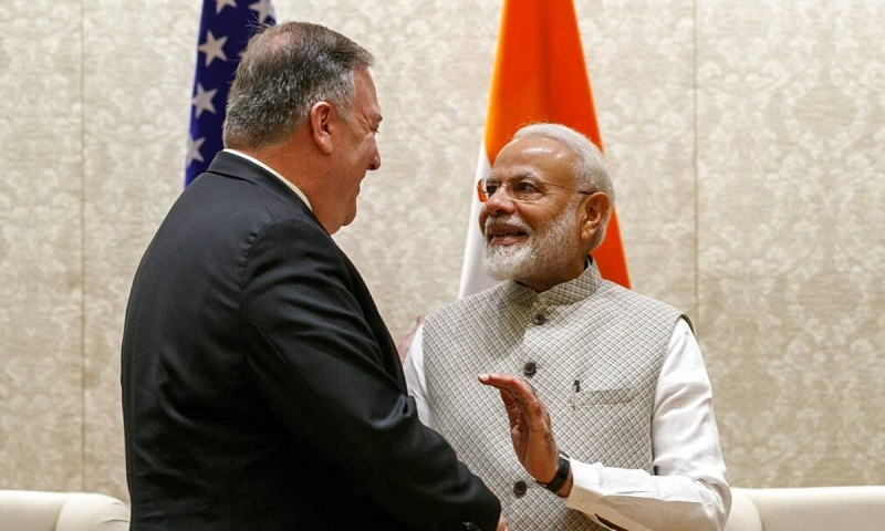 Pompeo meets Indian PM amid trade tensions, Iran crisis