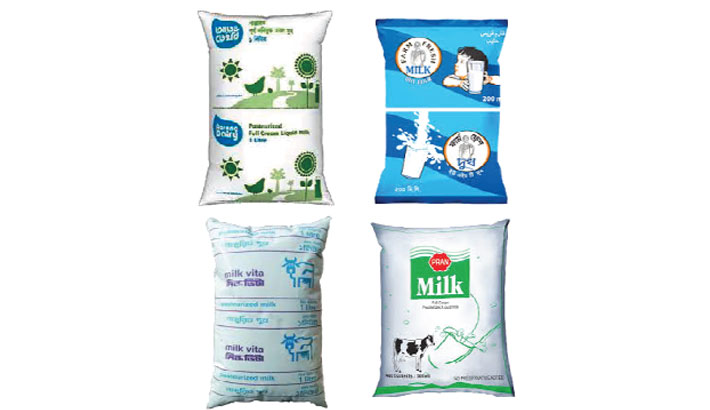 Detergent, formalin   found in milk