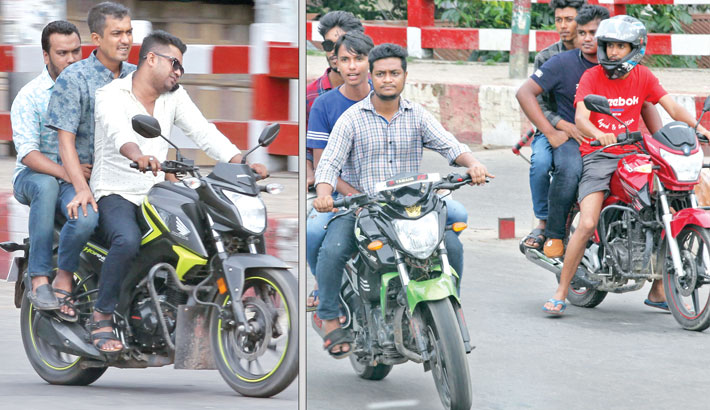 No laws for reckless motor bikers ?