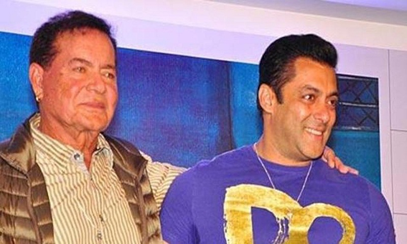Salman Khan joins father Salim Khan as they sing an old classic together