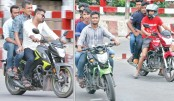 No laws for reckless motor bikers?