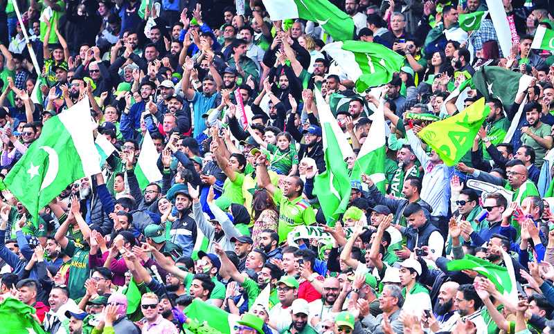 Pakistan supporters cheer during the 2019 Cricket World Cup