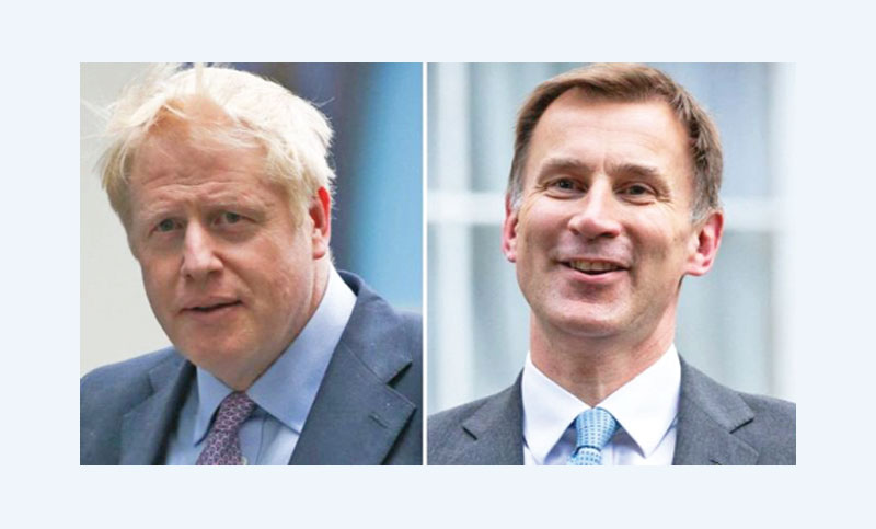 Johnson, Hunt divided over Brexit plans