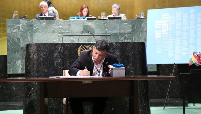 UN's Charter signing day observed; Ambassador Masud puts symbolic signature
