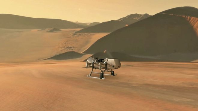 Dragonfly: Drone helicopter to fly on Saturn's moon