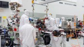 NASA engineers install robotic arm on Mars 2020 rover