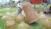 Fishing trap made of bamboo