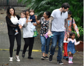 Sunny Leone's day out with hubby and kids