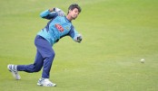 Mustafiz attends a training session at Edgbaston