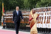 Warm reception to Hasina as she reaches Great Hall of People