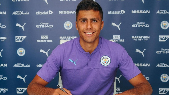 Man City sign Rodri on five-year deal from Atletico Madrid