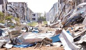 Houses damaged by a tornado