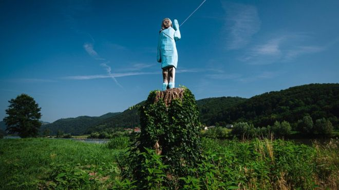 New Melania Trump statue in Slovenia gets mixed reviews