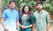Manoj, Nadia and Shamim  in Mishti Dushtu Prem