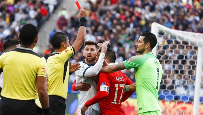 Messi slams referees, corruption after Copa America red card