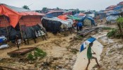 One killed, thousands displaced in Rohingya camp landslides