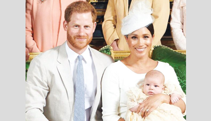Harry, Meghan's son Archie christened in private service
