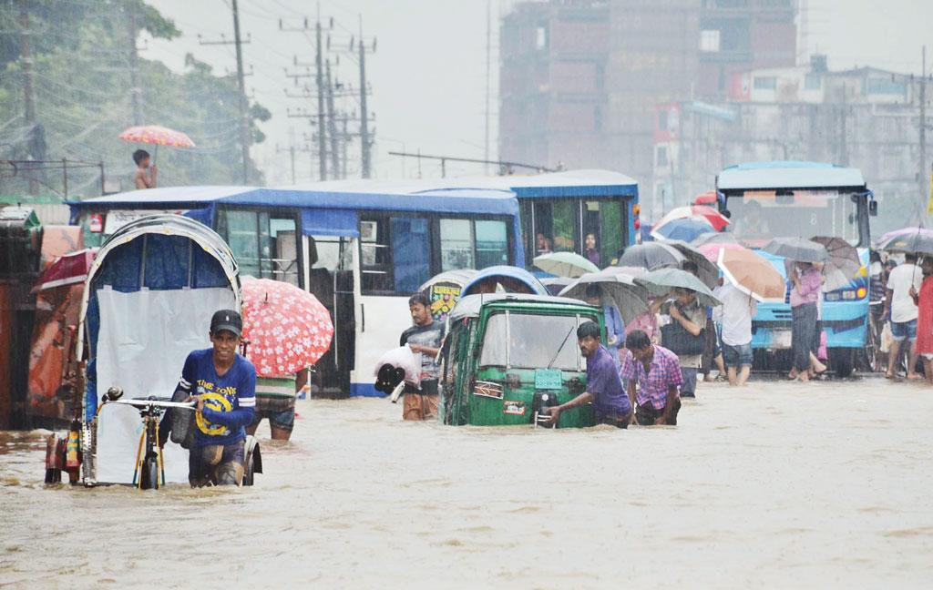 Waterlogging disrupts life in port city