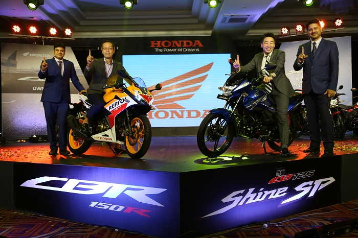 Honda Launches Premium Sports Model CBR 150R and New Stylish CB Shine SP