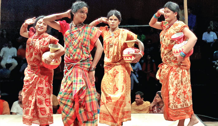 Sonai Madhab staged at Mahila Samity