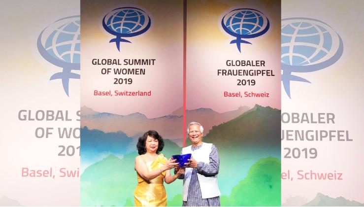 Prof Yunus wins 2019 Global Women's Leadership award