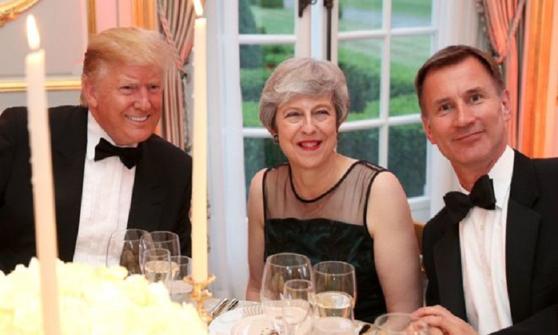Trump 'disrespectful' to PM and UK, says Jeremy Hunt