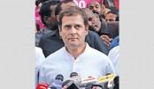 Rahul raises slogans in Lok Sabha over Karnataka political crisis