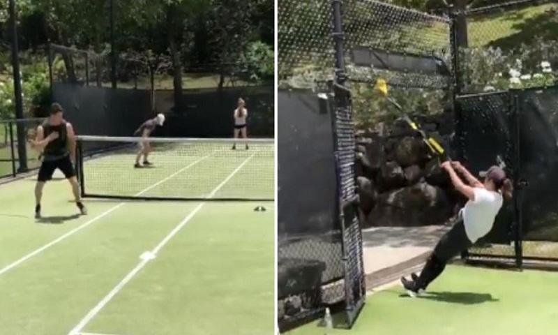 Priyanka Chopra, Nick Jonas work out at songwriting camp