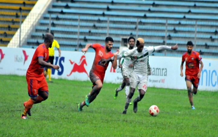 BPL Football: Dhaka Abahani manage 1-0 win over Sheikh Russel KC
