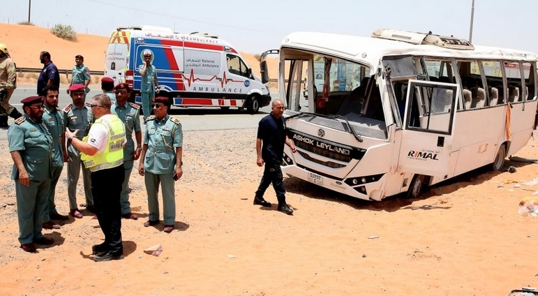 2 killed, 31 injured in UAE bus accident