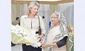 Dutch Queen Máxima meets Prime Minister Sheikh Hasina