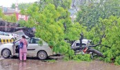 Heavy monsoon rains in Allahabad