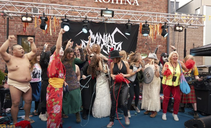 Finland hosts heavy metal knitting championship (Video)