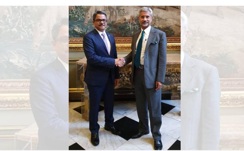 Shahriar Alam meets Jaishankar in London
