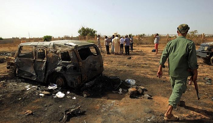 Car bomb blast at funeral kills at least four in Libya's Benghazi