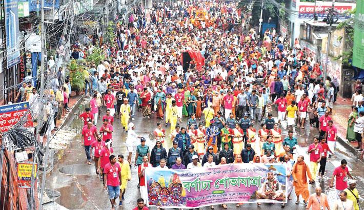 Thousands of Hindus join the 'Return Rathjatra'