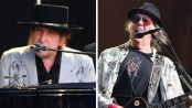 Bob Dylan and Neil Young share Hyde Park stage