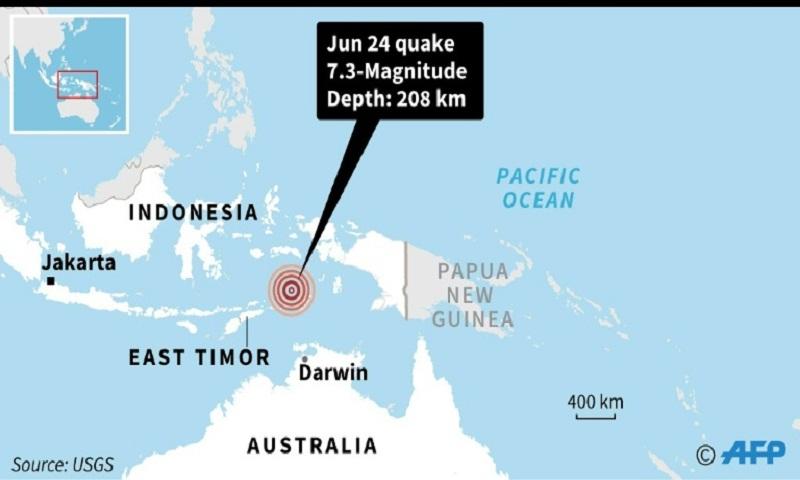 Major earthquake with 7.3 magnitude strikes eastern Indonesia