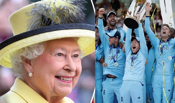 Queen salutes England after World Cup glory