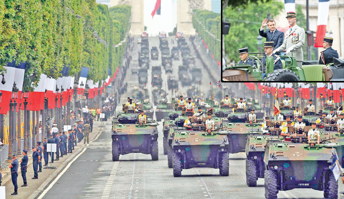 Macron showcases Europe military co-op at Paris parade